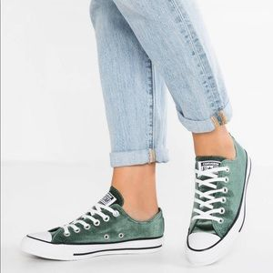 Converse Ctas Ox Low Top Deep Emerald Green Velvet